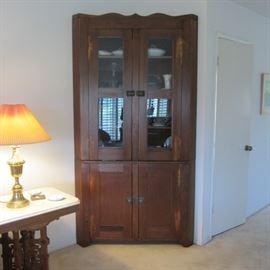 Wonderful 19th c. corner cabinet