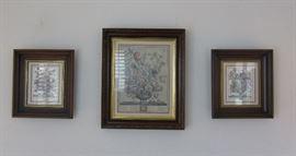 Old prints, lovely frames.