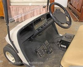 EZ Go 36 Volt Golf Cart with Utility Bed and Charger in Running Condition  Located Inside – Auction Estimate $1000-$3000