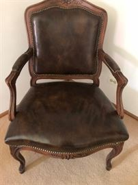 Louis XV style chair in Leather He is Sexy!