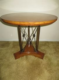 OCCASIONAL TABLE WITH CROSSED-ARROW MOTIF JOHN COLBY & SONS FURNITURE