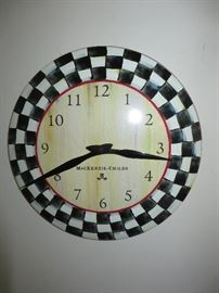 MacKenzie-ChildsCourtly Check wall clock