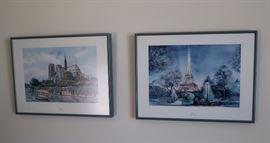 Paris Framed Art / Lithographs