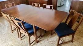 Upscale Dining Table with Six Chairs and Three leaves