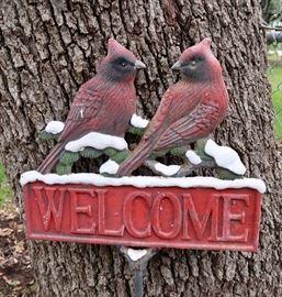 Cardinal Welcome Sign/Stake