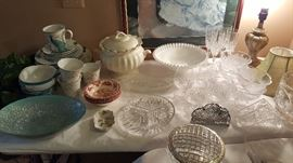 Crystal, Fenton silvercrest bowl