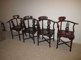 Asian shell inlay chairs