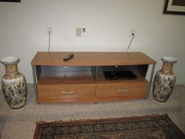Vases and tv stand