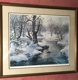 "Vikery Limited Edition Print ""Hush of Winter                    http://www.ctonlineauctions.com/detail.asp?id=721525"