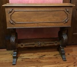 Walnut Sideboard Beverage Holder http://www.ctonlineauctions.com/detail.asp?id=721546