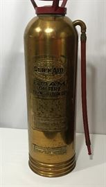 """Quick Aid"" Vintage Fire Extinguisher in Brass        http://www.ctonlineauctions.com/detail.asp?id=721579"