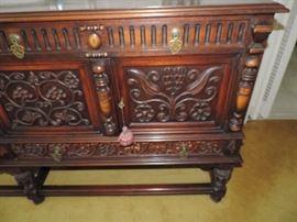detail of sideboard