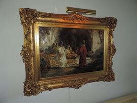Douglas Arthur Teed  - LARGE OIL in OUTSTANDING FRAME ... original family ownership