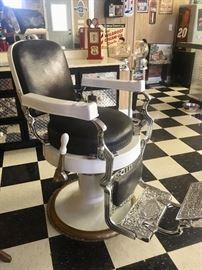 Restored Koken barber chair