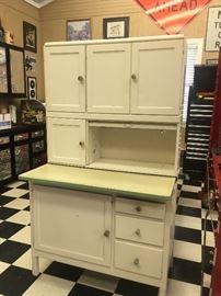 Vintage Hoosier-style kitchen cabinet