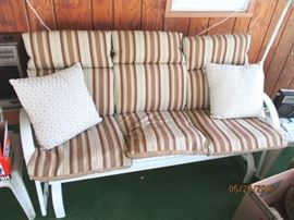 metal glider couch