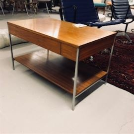 Scarce George Nelson Table with drawer and slider