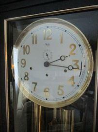 Face of Sligh Furniture grandfather clock