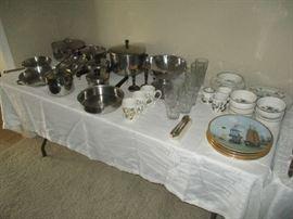 Decorative plates, dish sets, pots and pans