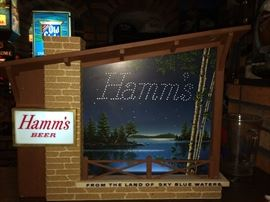 Working Hamm's motion starry night lighted sign