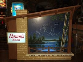 Hamm's Starry night working lighted sign                                          From the Land of Sky Blue Waters