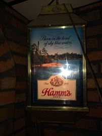 Two Vintage Hamm's 4 sided rotating lights