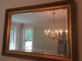 12. Gilded Beveled Mirror (43'' x 30'')