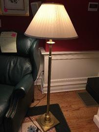 21. Adjustable Brass Floor Lamp (63'')