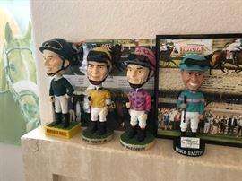 Racehorse bobbleheads Jockeys