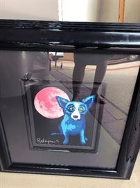 George Rodrigue Serigraph lithograph signed and numbered The Blue Dog