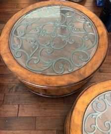 Round Coffee Table and Matching End Table