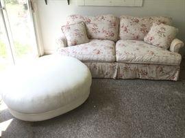 Overstuffed Sofa & Large Modern Ottoman        http://www.ctonlineauctions.com/detail.asp?id=724344