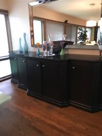 "Custom made Sideboard 10'2"" wide x 27"" deep (at deepest point) x 36"" high. $1500"