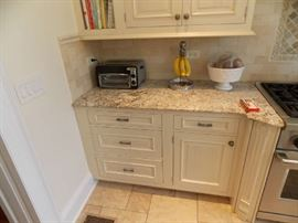 Huge Newer White Woodmode Kitchen For Sale   Ready For Removal June 15th  112 inch tall ,   uppers are 59 tall if you remove the crown can make them 50 inch tall  Kitchen Is 13ft by 16ft  All Appliances But The Stove . 48 Inch Sub-Zero Fridge / Freezer  Comes With Island And All Granite    $10.900.00 obo