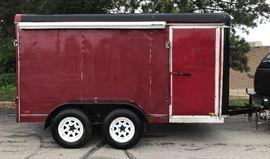"Haulmark Trailer enclosed 6x12"" Heavy Duty-Dual Axle. Barn back doors, single side door, no leaks, clear Title, good Tires."