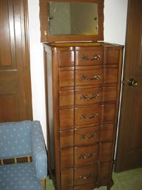heavy solid wood jewelry armoire