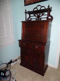 Beautiful small vintage secretary desk