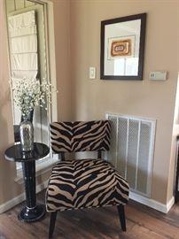 Zebra chair from Noel Furniture
