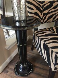 c 1920 Black enameled Bristo table Orgin: Austria/Germany