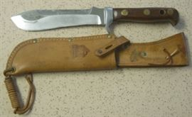 1966 Puma White Hunter Knife w/Wood Handles & Sheath - Germany