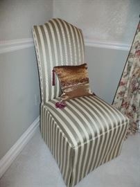 1 of 2 Upholster Parson's  chairs ---Perfect Condition -