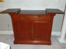 Two matching Ethan  Allen bar/servers w/flip open top----Perfect Condition