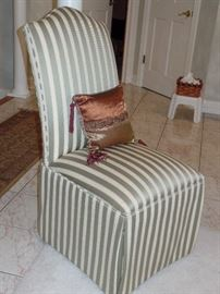 1 of 2 Upholster Parson's  chairs ---Perfect Condition