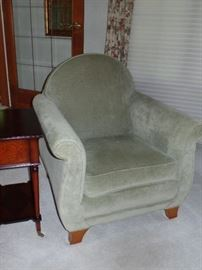 Sage green couch w/ two matching side chairs-                     --Perfect Condition