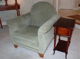 Sage green couch w/ two matching side chairs   ---Perfect Condition