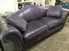 Norwalk Custom Leather Couch