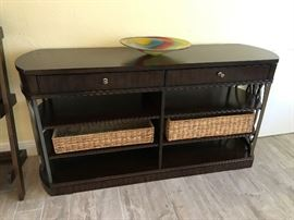 FLAT SCREEN TV CABINET - BASKETS WILL BE SOLD SEPARATELY