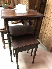 Unique Nesting Tables....Antique