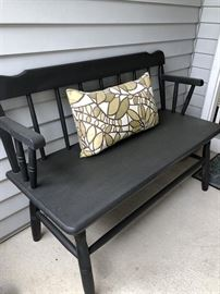 Painted Black Bench