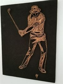 "Copper ""string"" art"
